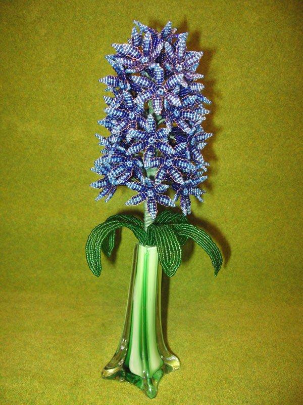 Гиацинт из бисера Цветы из бисера - Всё из бисера и о бисере.  Бисер гиацинт - Мастер класс лучшее фото и видео.