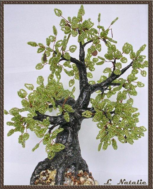 Деревья из бисера схемы на лайфинтернет. .  Мастер-класс по гипсовому стволу для деревьев из бисера.